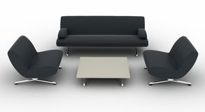 Sofa furniture. A set of black sofa furniture Stock Images