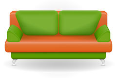 Sofa furniture vector illustration Royalty Free Stock Photo