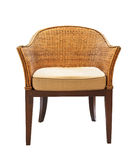 Sofa Furniture Weave Bamboo Chair Stock Image