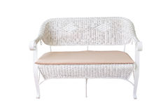 Sofa furniture weave bamboo chair on white Stock Photo