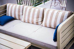Sofa in garden Royalty Free Stock Photography