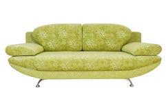 Sofa getrennt auf weißem Hintergrund Stockbilder