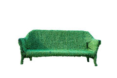 Sofa of the grass Isolated Stock Images