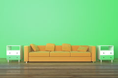 Sofa in green room Royalty Free Stock Photography