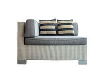 Sofa grey tone with pillow Royalty Free Stock Photography
