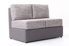 Sofa gris Photo libre de droits