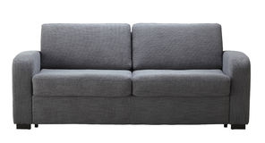 Sofa gris d'isolement Images stock