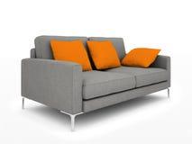 Sofa gris moderne illustration de vecteur