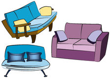 Sofa Group Objects Stock Photography
