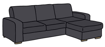Sofa. Hand drawing of a black sofa Royalty Free Stock Image