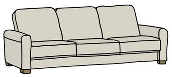 Sofa. Hand drawing of a white sofa Stock Image