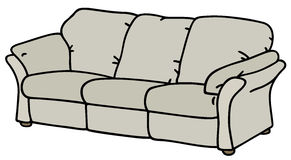 Sofa. Hand drawing of a white sofa vector illustration