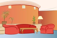 Sofa hotel interior vector Stock Photo