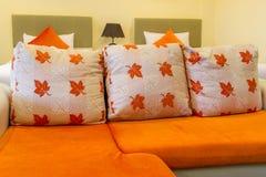Sofa in hotel room Royalty Free Stock Photos