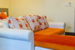 Sofa in hotel room Stock Images