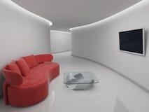 Sofa i restlokal Arkivbild