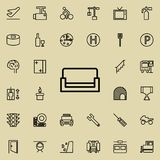 sofa icon. Detailed set of minimalistic line icons. Premium graphic design. One of the collection icons for websites, web design, vector illustration