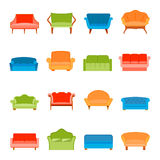 Sofa icon flat Royalty Free Stock Photo