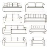 Sofa Icon Set Illustration Libre de Droits