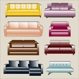 Sofa Icon Set Immagini Stock Libere da Diritti