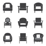 Sofa Icon Set Image libre de droits