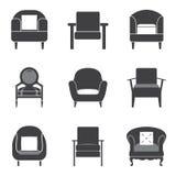 Sofa Icon Set Imagen de archivo libre de regalías