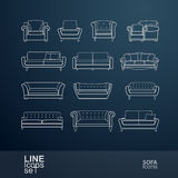 Sofa icon Royalty Free Stock Photography