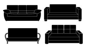 Sofa Icon Set Vector Illustration Image stock