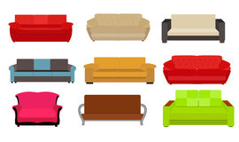 Sofa Icon Set Vector Illustration Images stock