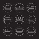 Sofa Icons Lizenzfreie Stockfotografie