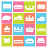 Sofa Icons Images libres de droits