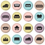Sofa Icons Photos stock