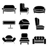 Sofa Icons Lizenzfreie Stockfotos