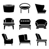 Sofa Icons Stockbilder