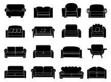 Sofa icons set Royalty Free Stock Photo