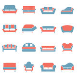 Sofa Icons Royalty Free Stock Photos
