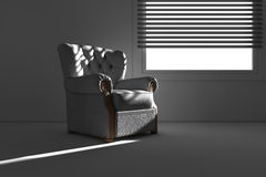 Sofa at window light Royalty Free Stock Photography