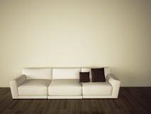 Sofa im modernen bequemen Innenraum stock abbildung