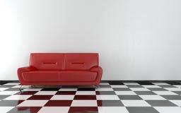 Sofa im Raum Lizenzfreies Stockfoto