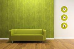 sofa intérieur vert illustration de vecteur