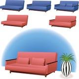 Sofa interior design vector illustration
