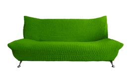 Sofa isolated - green. Green sofa isolated on white. Clipping Path included royalty free stock images