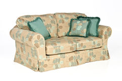 Sofa isolated with pillows. Indoor sofa isolated with pillows on white background Stock Images
