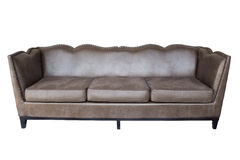 Sofa isolated on white background. A sofa made from cowhide Royalty Free Stock Photography