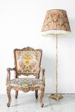 Sofa ith lamp Royalty Free Stock Images