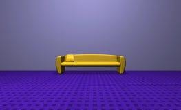 Sofa jaune Photographie stock