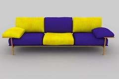 Sofa jaune violet Illustration Libre de Droits