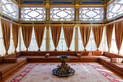 Sofa Kiosk in the Topkapi palace Royalty Free Stock Image