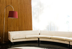 Sofa and lamp Royalty Free Stock Image