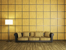 Sofa and a lamp Royalty Free Stock Photos